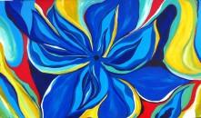 "Blue Burst | 36"" X 60"" | $1100"