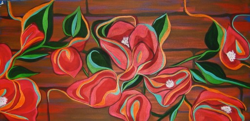 "Bougainvillea | 24"" X 48"" 