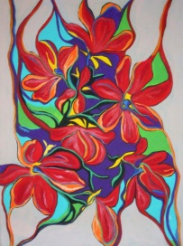 "Bright Boquet | 20"" X 30"" 