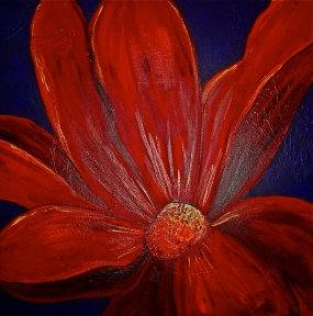 "Red Flower | 36"" X 36"" 