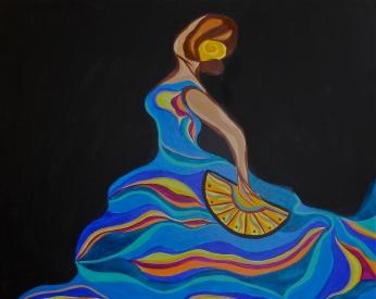 "Flamenco IV | 24"" X 30"" | $500|"