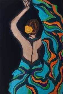 "Flamenco III | 24"" X 36"" | $500"