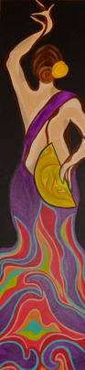 """Flamenco V   24"""" X 48""""   $500"""