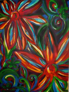 "Bright Flowers | 24"" X 36"" 