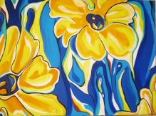 """Yellow Daisies   30"""" X 40""""   SOLD"""