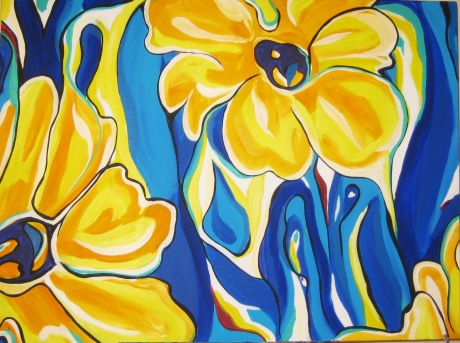 "Yellow Daisies | 30"" X 40"" 