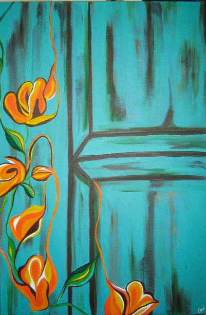 "Turquiose Door | 24"" X 36"" 