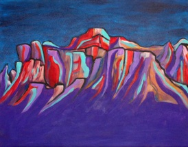 "Mountain Range | 20"" X 16"" 