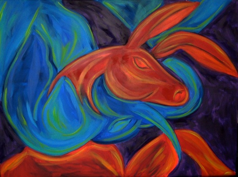 """Party Lines   24"""" X 36""""   SOLD"""