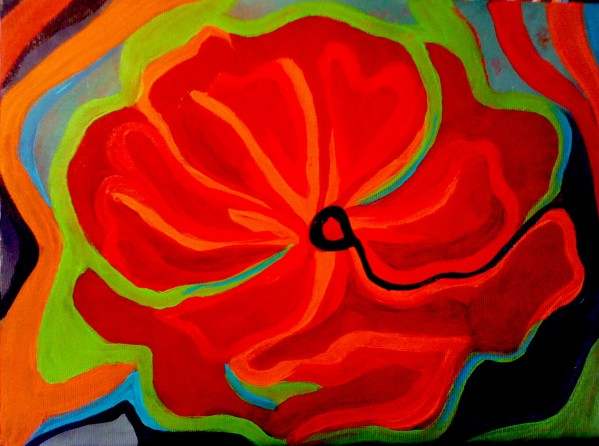 "Red Poppy | 8"" X 10"" 