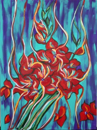 "Red Bouquet | 18"" X 24"" 