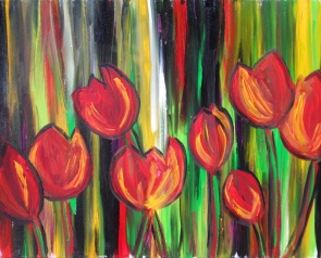"Red Tulips | 20"" X 16"" 