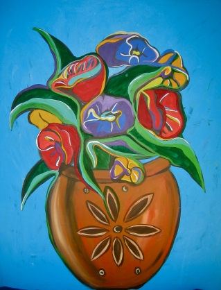 "Rustic Bouquet | 48"" X 60"" 